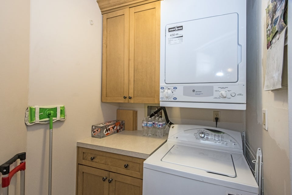 Separate laundry with built in cabinets added in 2012